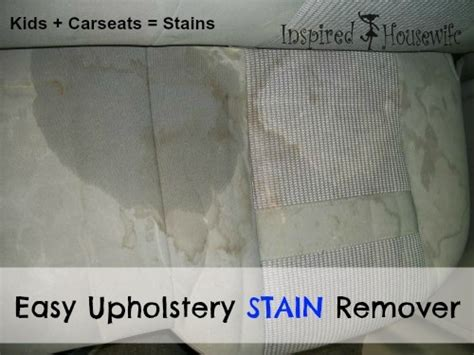 how to clean upholstery stains easy car upholstery stain remover