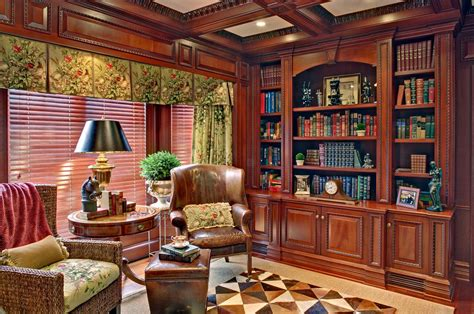 office library mahogany home library office