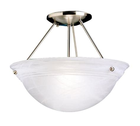 Cove Light Fixture Kichler 3718ni Cove Molding Top Glass Semi Flush Ceiling Fixture