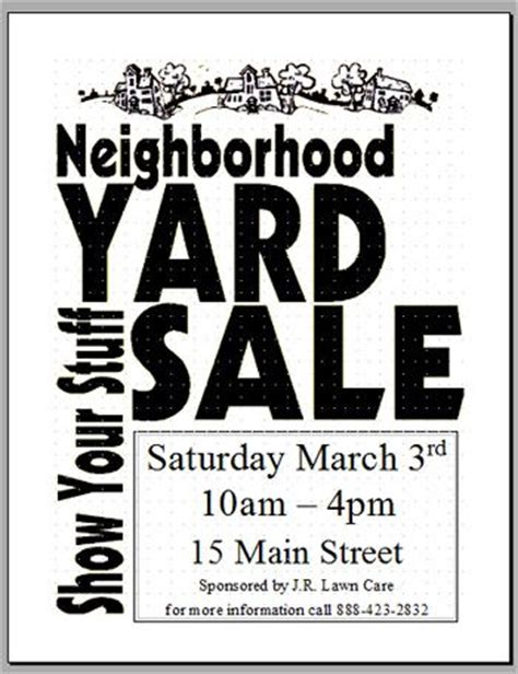 tips for planning a fundraiser garage sale amys wandering