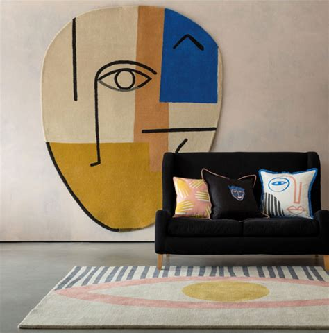 1950s rug styles 1950s style abstract eye and rugs at habitat retro