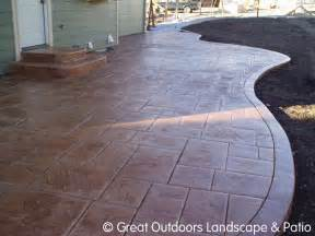 Concrete Backyard Ideas Denver Colorado Landscaping Concrete Patios More