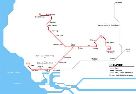 le havre map urbanrail net gt europe gt gt le havre tram