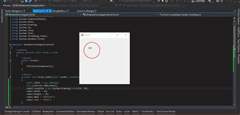 Drawing C Sharp by Winforms C Draw Circle Around Label Stack Overflow