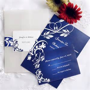 royal blue floral design pocket wedding invitations iwgy034 wedding invitations