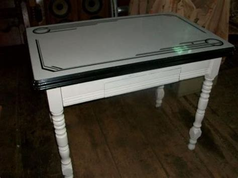 vintage deco shabby porcelain enamel kitchen table ebay
