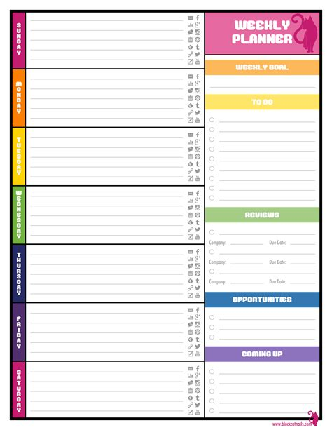 weekly planner printable free template 9 best images of free printable weekly calendars pdf