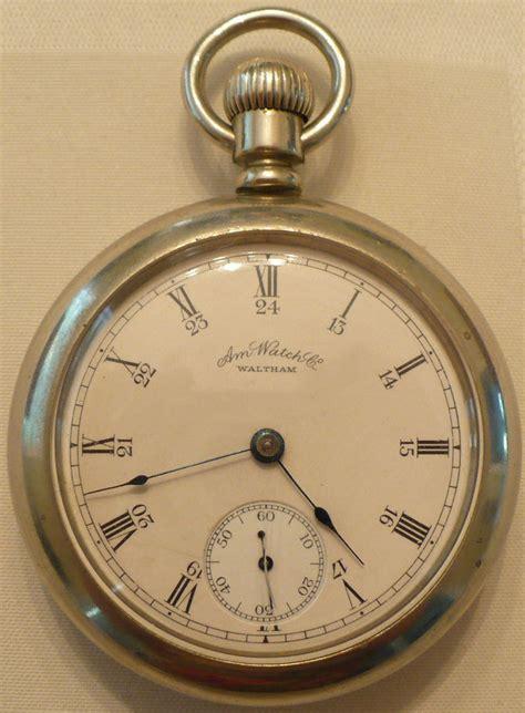 antique 1888 american waltham co silveroid pocket