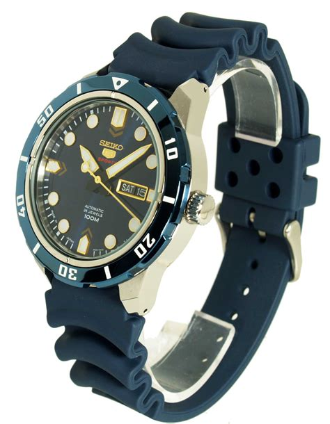Seiko 5 Rubber seiko 5 sports automatic pearlescent blue blue rubber