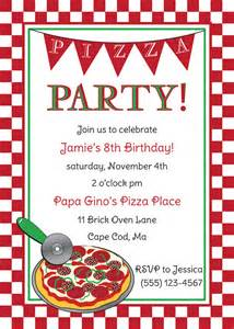 pizza birthday invitation by anchorbluedesign on etsy