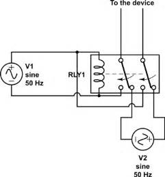 mains using a relay to switch between 230vac inputs