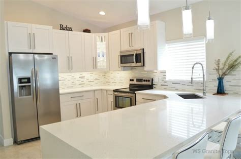 Kitchen Island Stools And Chairs Sparkling White Quartz From Msi Bathroom And Kitchen Ideas