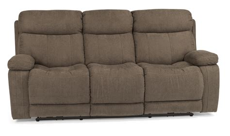 Flexsteel Reclining Sofas Flexsteel Latitudes Danika 1484 62p Casual Power Reclining Sofa With Contrast Topstitching