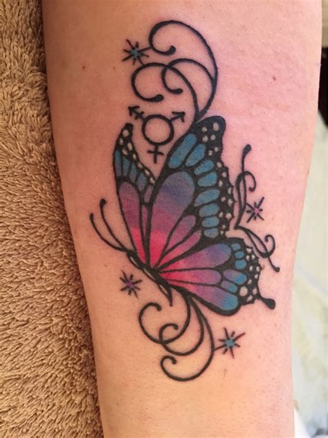 side view butterfly tattoo designs colorful butterfly on side leg