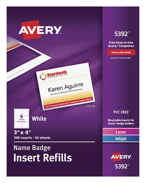 avery templates for name badges name badge insert refill school specialty marketplace