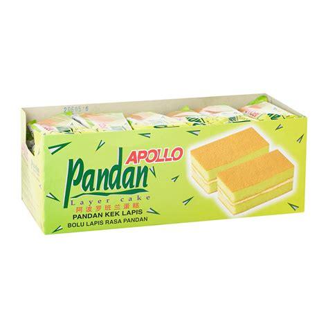 apollo layer cake isi 24 pcs apollo layer cake pandan 18g from redmart