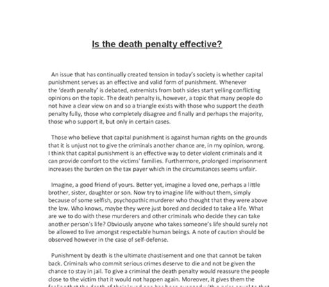 You Against Penalty Essay by Capital Essay Against School