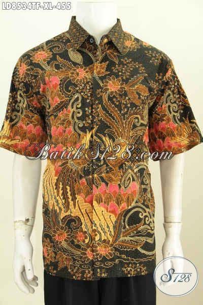 Hem Batik Katun Furing Pj Kemeja Batik Terbaru Batik Kantor M 2 baju hem batik premium size xl kemeja batik lengan pendek