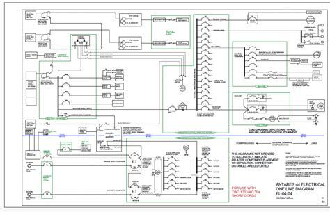 diagram of catamaran antares 44i catamaran electrical one line diagram