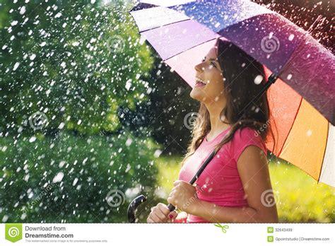 enjoy  rain royalty  stock images image