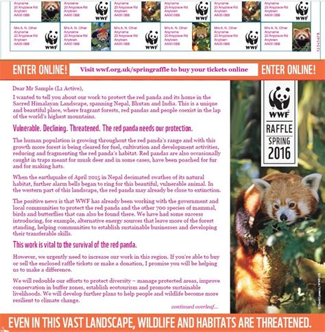wwf charity letter direct mail fundraising for charity sector giles white