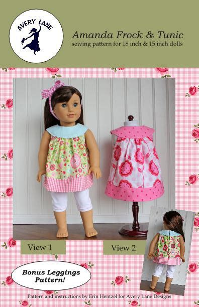 design boutique doll 18 doll clothes pattern amanda dress and top boutique