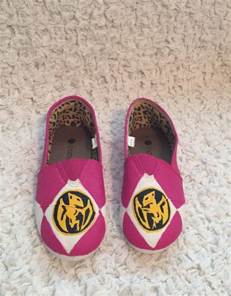 power rangers slippers painted pink any color power ranger canvas shoes