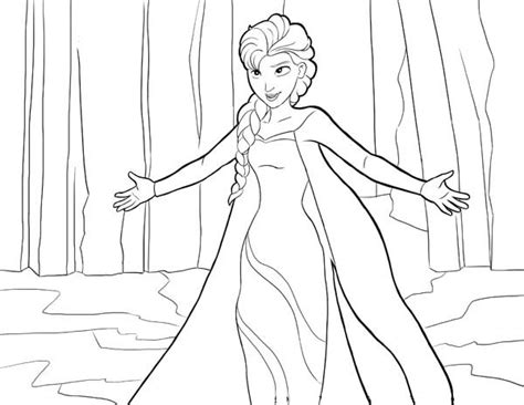queen elsa coloring pages free drawings of elsa face coloring pages
