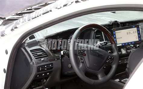 genesis inside and out next hyundai genesis sedan spied inside and out