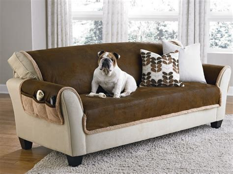 pet furniture covers for leather sofas sure fit vintage leather sofa brown pet age