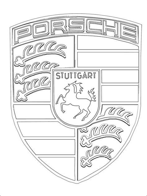 logo porsche kleurplaat gratis kleurplaten