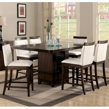7 piece counter height dining room sets homelegance elmhurst 7 piece counter height dining room