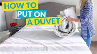 How To Put Duvet Cover How To Put On A Duvet Cover Youtube