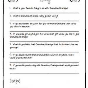 Grandparents Day Template by Grandparent S Day Printable Questionnaire Tip Junkie
