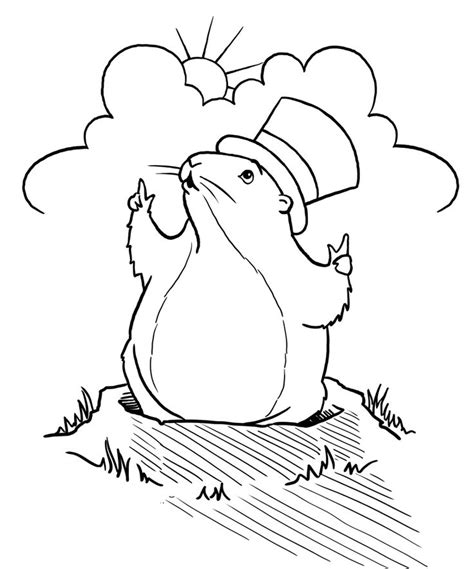 Groundhog Day Printable Coloring Pages Groundhog Day Coloring Page