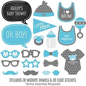 Click here for more baby shower photo booth props ideas
