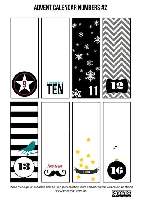 free printable advent calendar number tags 1000 ideen zu free printable numbers auf pinterest