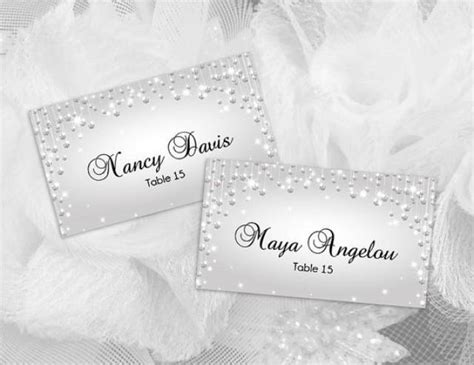 bridal shower place cards templates diy printable wedding place name card template 2430974