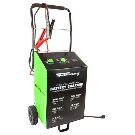 forney battery charger forney 2 30 60 300 6 120 volt wheeled battery charger