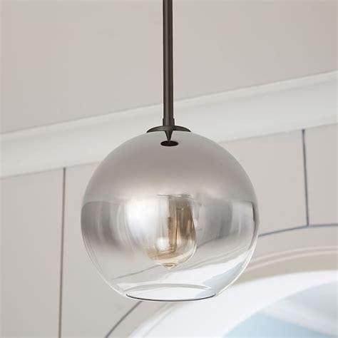 sculptural glass globe pendant small west elm