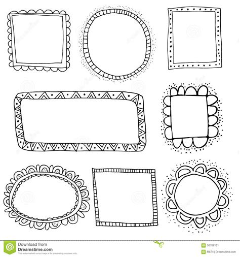 free doodle vector frame vector doodle frames stock vector illustration of label