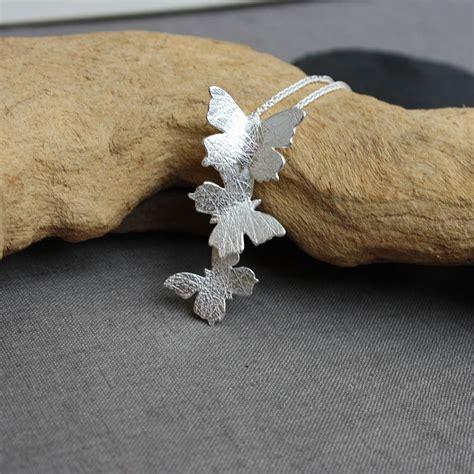 Handmade By Caroline - handmade silver butterfly pendant by caroline cowen