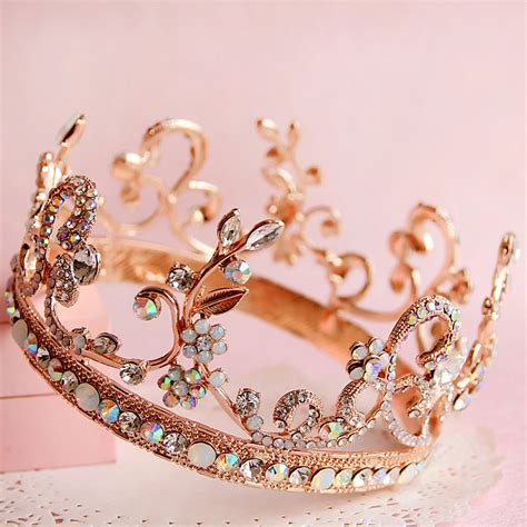Wedding Headpiece White And Gold aliexpress buy gold colored gem bridal hair jewelry fashion tiara