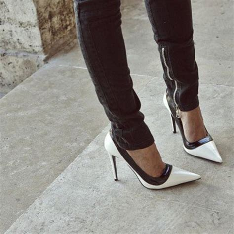 black and white shoes high heels shoes beautiful black white black and white heels