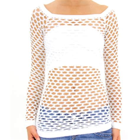 Fishnet Small Medium td collection fishnet sleeve top go