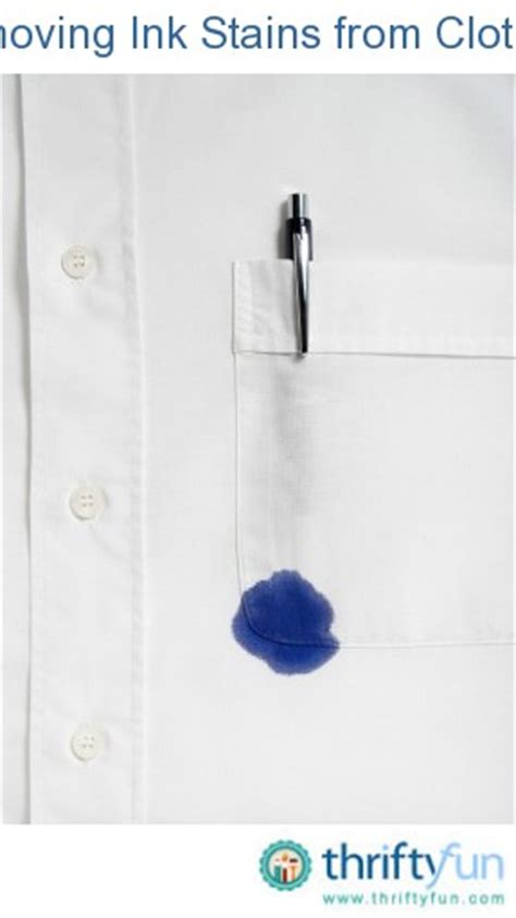 Remove Ink From by Removing Ink Stains From Clothing Thriftyfun