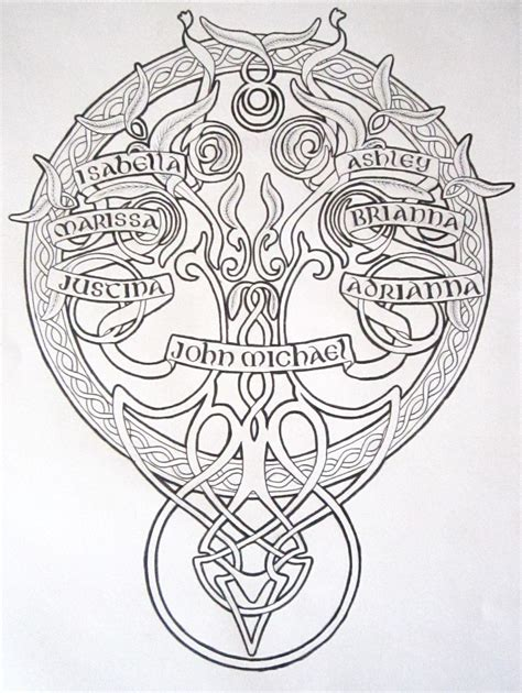 celtic family tattoo designs celtic family tree design by byakuren studios on deviantart