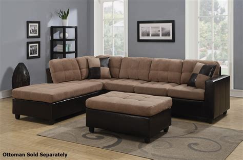 Tables For Sectional Sofas by Coaster Mallory 505675 Beige Fabric Sectional Sofa