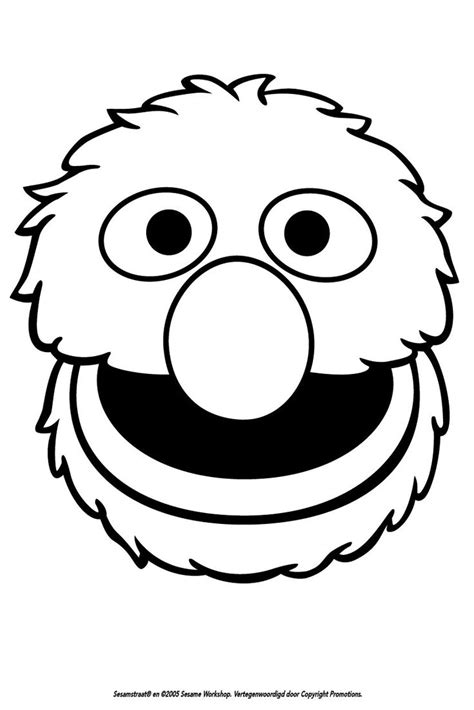 Grover Silhouette Sesame Street Birthday Party Pinterest Grover Coloring Page