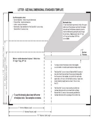 letter size mail dimensional standards template mail dimensional standards template fill